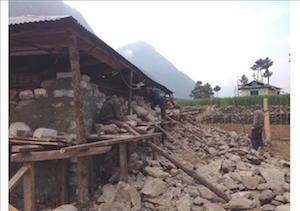 Nepal Hilfe Wiederaufbau